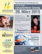 """Markbrunnenfest am 29.03.2015 in Neustadt/W.: Slow Food Pfalz organsiiert  zeitgleich ein """"Slow Food Genussmarkt"""" mit tollenProduzenten."""